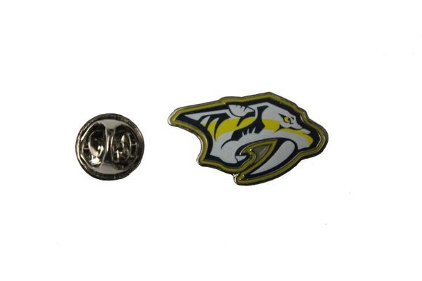 "NASHVILLE PREDATORS NHL Hockey Logo 1"" X 0.6"" Inch Metal LAPEL PIN BADGE"