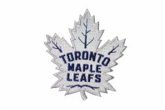 "TORONTO MAPLE LEAFS NHL HOCKEY ( NEW ) LOGO WHITE EMBROIDERED IRON ON PATCH CREST BADGE .. SIZE : 2 3/4"" X 3"" INCH"