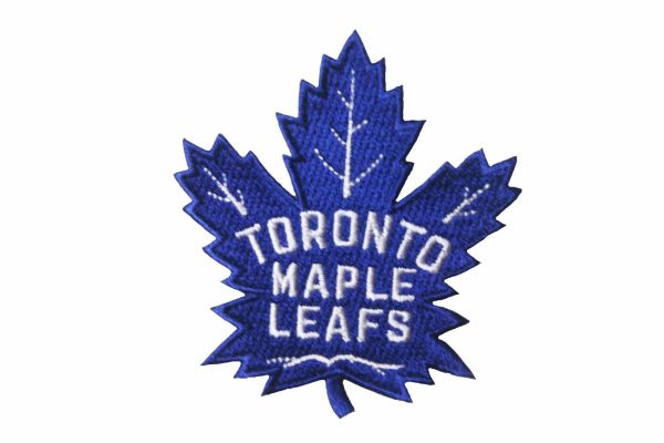 "TORONTO MAPLE LEAFS NHL HOCKEY ( NEW ) LOGO BLUE EMBROIDERED IRON ON PATCH CREST BADGE .. SIZE : 2 3/4"" X 3"" INCH"