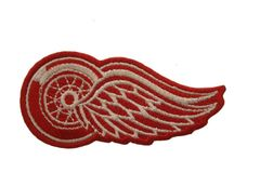 "DETROIT RED WINGS EMBROIDERED Iron - On PATCH CREST BADGE .. SIZE : 3"" x 1.5"" Inch"