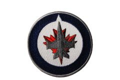 """WINNIPEG JETS EMBROIDERED Iron - On PATCH CREST BADGE .. SIZE : 3"""" Inch Round"""