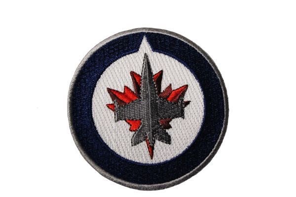 "WINNIPEG JETS EMBROIDERED Iron - On PATCH CREST BADGE .. SIZE : 3"" Inch Round"