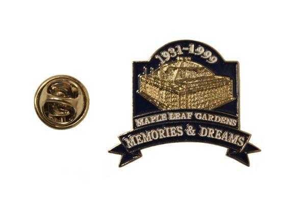 MAPLE LEAF GARDENS MEMORIES & DREAMS 1931 - 1999 Metal LAPEL PIN BADGE