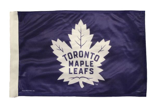 TORONTO MAPLE LEAFS ( New ) Logo Heavy Duty CAR FLAG With Sleeve Without Stick