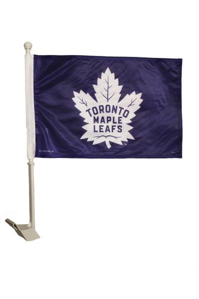 TORONTO MAPLE LEAFS ( New ) Logo Heavy Duty CAR FLAG With Stick