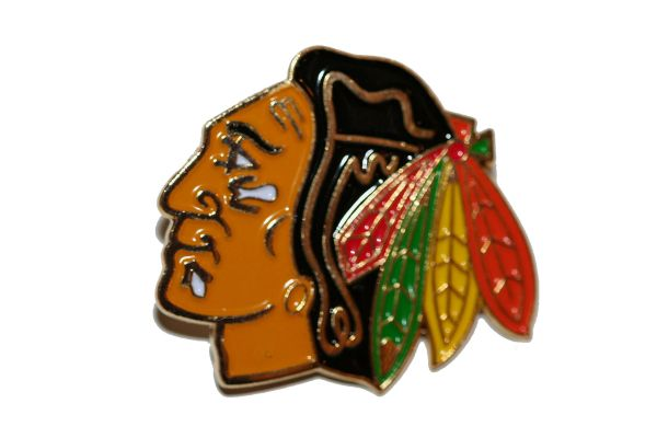 CHICAGO BLACKHAWKS NHL LOGO METAL LAPEL PIN BADGE .. NEW AND IN A PACKAGE