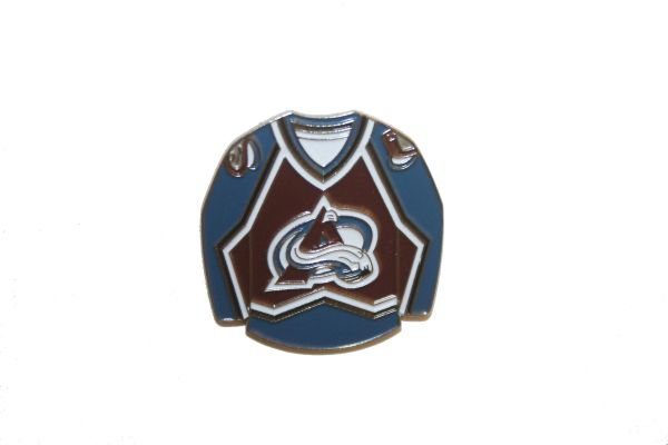 COLORADO AVALANCHE BLUE JERSEY NHL LOGO METAL LAPEL PIN BADGE .. NEW AND IN A PACKAGE
