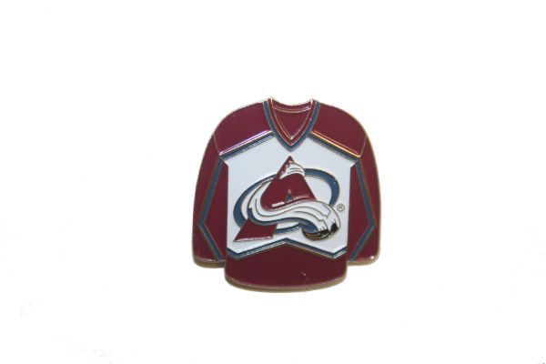 COLORADO AVALANCHE RED JERSEY NHL LOGO METAL LAPEL PIN BADGE .. NEW AND IN A PACKAGE