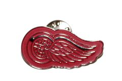 DETROT RED WINGS NHL LOGO METAL LAPEL PIN BADGE .. NEW AND IN A PACKAGE