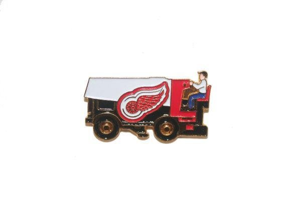 DETROIT RED WINGS NHL ZAMBONI METAL LAPEL PIN BADGE .. NEW AND IN A PACKAGE