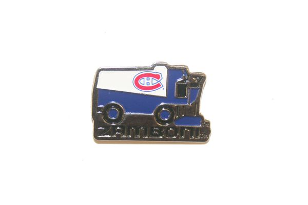 MONTREAL CANADIENS NHL ZAMBONI METAL LAPEL PIN BADGE .. NEW AND IN A PACKAGE
