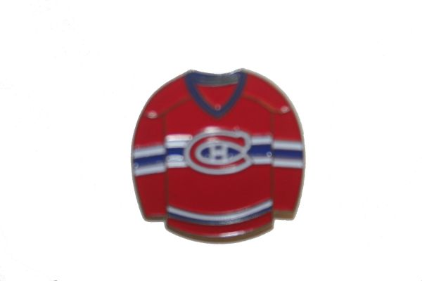 MONTREAL CANADIENS RED JERSEY NHL LOGO METAL LAPEL PIN BADGE .. NEW AND IN A PACKAGE