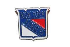 NEW YORK RANGERS NHL LOGO METAL LAPEL PIN BADGE .. NEW AND IN A PACKAGE