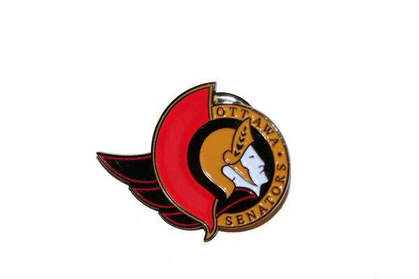 OTTAWA SENATORS NHL LOGO METAL LAPEL PIN BADGE .. NEW AND IN A PACKAGE