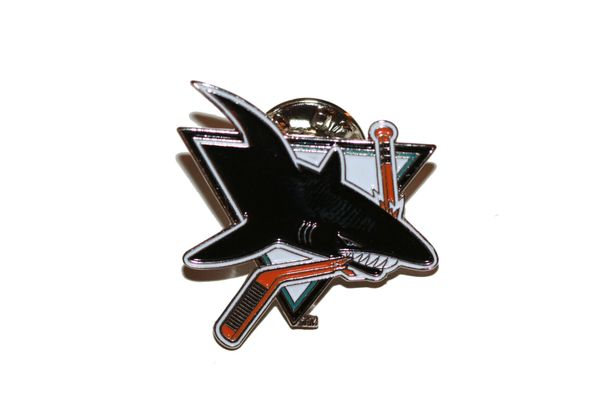 SAN JOSE SHARKS NHL LOGO METAL LAPEL PIN BADGE .. NEW AND IN A PACKAGE