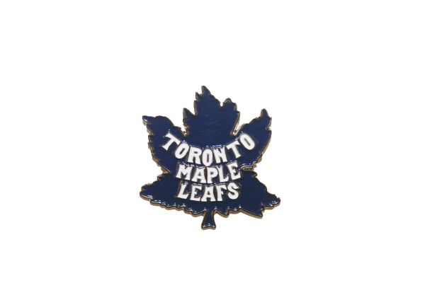TORONTO MAPLE LEAFS NHL OLD LOGO METAL LAPEL PIN BADGE .. NEW AND IN A PACKAGE