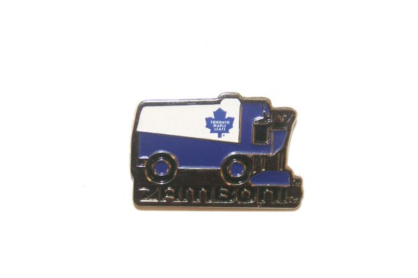 TORONTO MAPLE LEAFS NHL ZAMBONI METAL LAPEL PIN BADGE .. NEW AND IN A PACKAGE