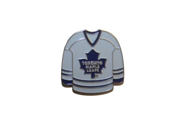 TORONTO MAPLE LEAFS WHITE JERSEY NHL LOGO METAL LAPEL PIN BADGE .. NEW AND IN A PACKAGE