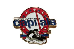 WASHINGTON CAPITALS NHL LOGO METAL LAPEL PIN BADGE .. NEW AND IN A PACKAGE