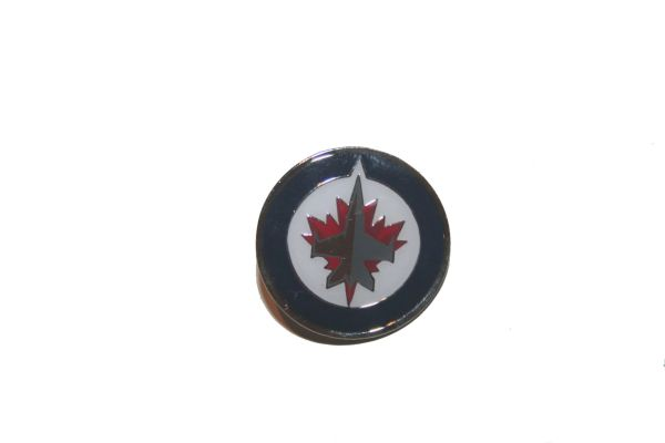 WINNIPEG JETS NHL LOGO METAL LAPEL PIN BADGE .. NEW AND IN A PACKAGE