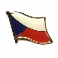 CZECH REPUBLIC NATIONAL COUNTRY FLAG LAPEL PIN BADGE .. NEW AND IN A PACKAGE