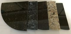 "8""X 1/2"" Granite Corner Shelf Caddy- Select from Tan Brown, Blue Pearl, Black Galaxy, New Venetian Gold or Absolute Black"
