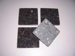 Natural Blue Pearl Granite Stone Coasters Set of 4