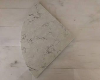 White marble quartz shelf 8""