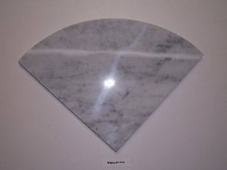 White Marble Shower Corner Shelf 3/8""