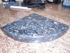 3cm Blue Pearl Granite Shower Corner Shelf