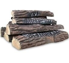 Set of 10 Ceramic Fiber Propane Gel Ethanol or Gas Fireplace Logs