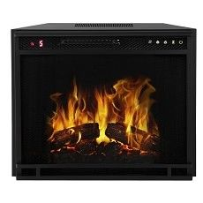 28 Inch Flat Ventless Heater Electric Fireplace Insert