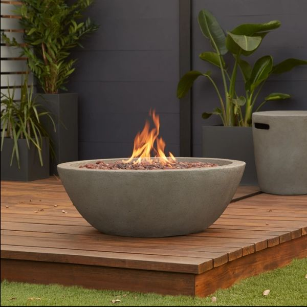 Real Flame Riverside Gas Fire Bowl w/NG Conversion Kit (Ships Truck Call for Rates)