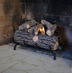 Ventless Gel Fuel Log Set - 18 Inch Oak