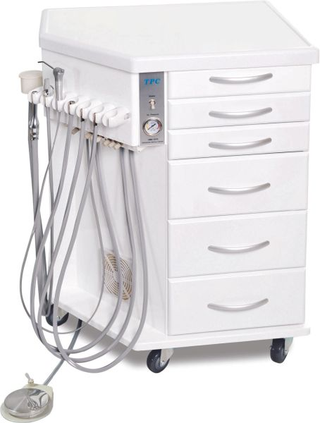Orthodontic Mobile Delivery Cabinet w/Built-in 3HP Unit