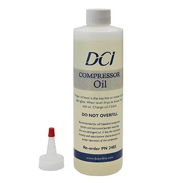 Non-Synthetic Lubricated Compressor Oil, 16oz Bottle