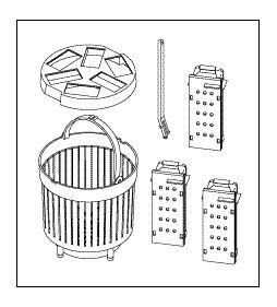 Cassette Rack Kit, KavoClave & Prestige, Versions II & III
