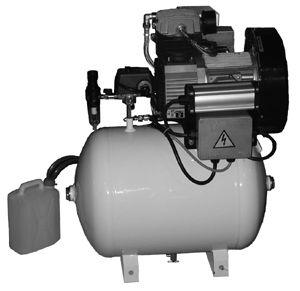DA Oilless Compressor, 1-1/2 H.P. 220V no Cabinet
