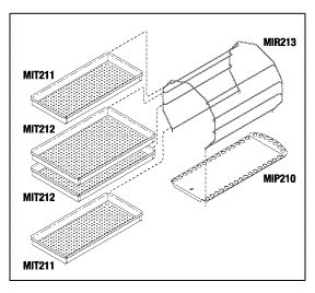 Rack and Tray Kit, to fit Midmark M11