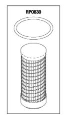 Filter Element, to fit Air Techniques Compressors, w/ O-ring