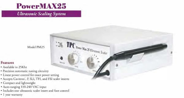 TPC PowerMAX 25 Ultrasonic Scaler w/1 insert