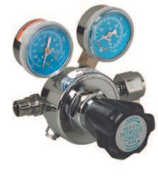 Nitrous Oxide Regulator, 2 Gauge, Adjustable