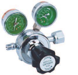 Oxygen Regulator, 2 Gauge, Adjustable