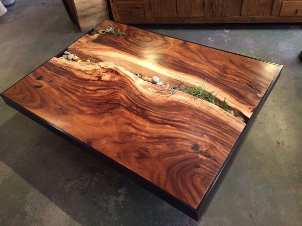Monkey Wood Coffee Table Sequoia Santa Fe