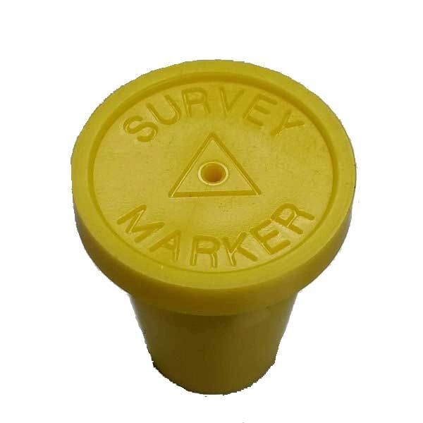 "Yellow Survey Marker Pack of 20 1/2"" RingGuard Caps"