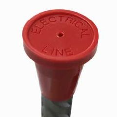 "Red Electrical Line Pack of 20 1/2"" RingGuard Caps"