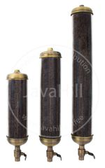 Retail Coffee Bean Silos - Antique Brass with 18 inch Tube. Customer can upgrade tube to 24 inch or 36 inch Tube Length. Option menu inside.