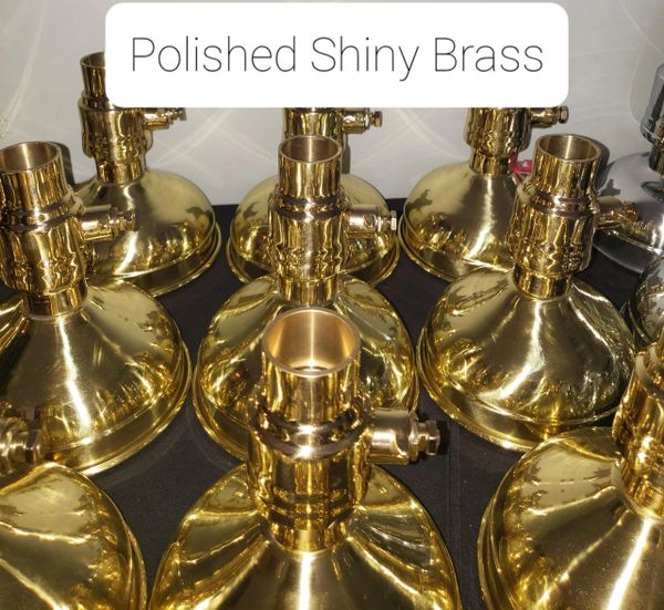 Polished Shiny Brass or Plated Shiny Brass Option