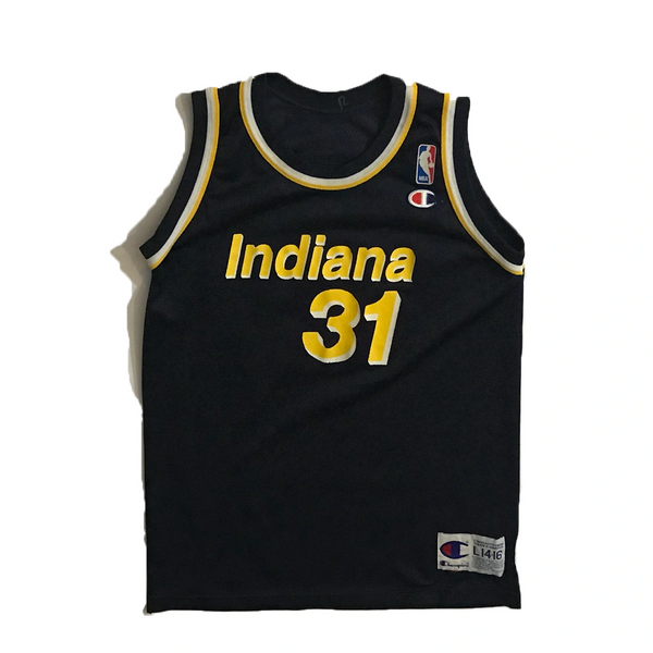 Vintage Indiana Pacers Reggie Miller Basketball Champion Jersey Youth L