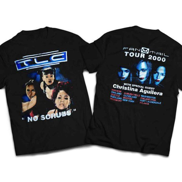 Vintage Style TLC No Scrubs Rap T-shirt